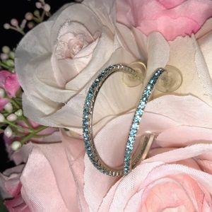 Jewelry - 🆕Aquamarine Hoop Earrings💎